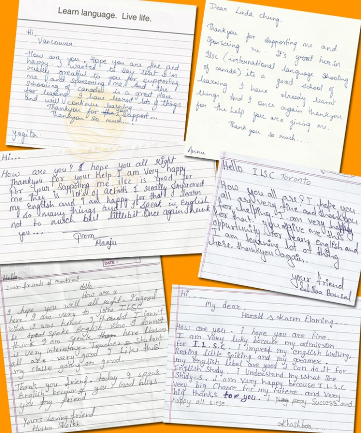 Thank you letters from current Learn to Earn students