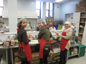 Students helping out at Share the Warmth