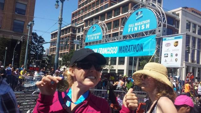 Molly Jones -Her excitement in San Francisco Marathon