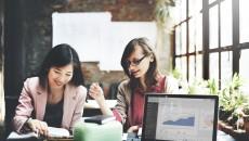 Businesswomen Corporate Marketing Working Concept