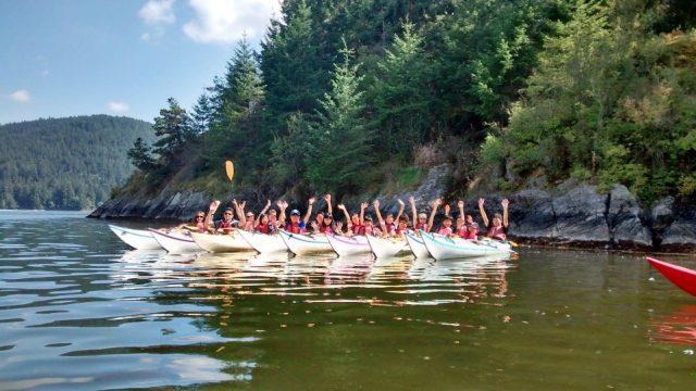 Juniors kayaking