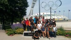 The Juniors outside the Olympic Stadium
