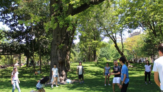 The students at High Park, the largest park in the city
