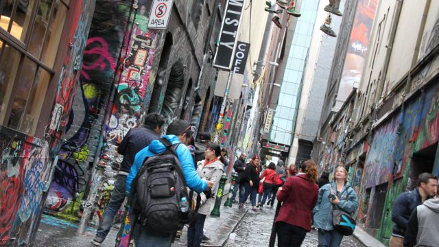 One of the many fascinating laneways in Melbourne