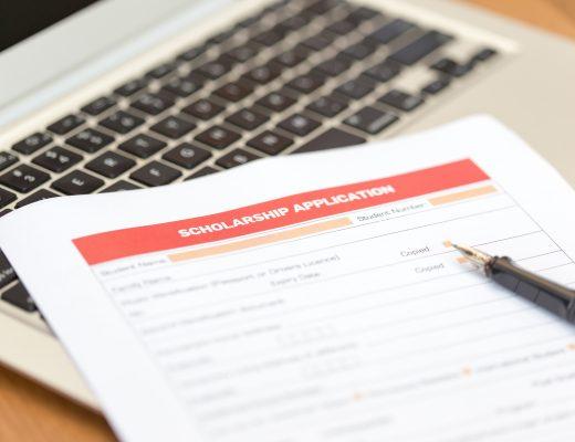 Scholarship Application Form on Desk