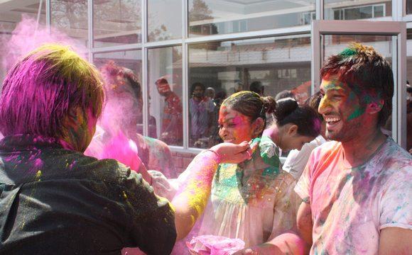 ILSC New Delhi Language Schools Group celebrate the hindu festival of Holi