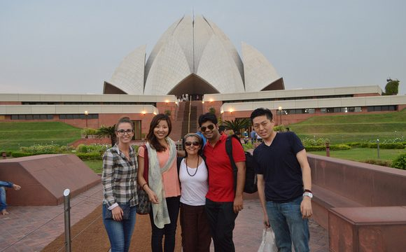 Group of ILSC New Delhi students on an activity excursion to the Lotus Temple in Delhi
