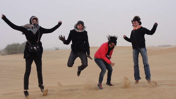 Group of ILSC New Delhi students enjoy an excursion to the desert